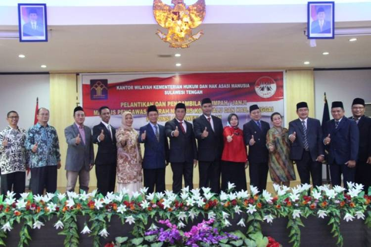 Majelis Pengawas Daerah Notaris Kota Palu Dan Kab. Banggai Resmi Dilantik