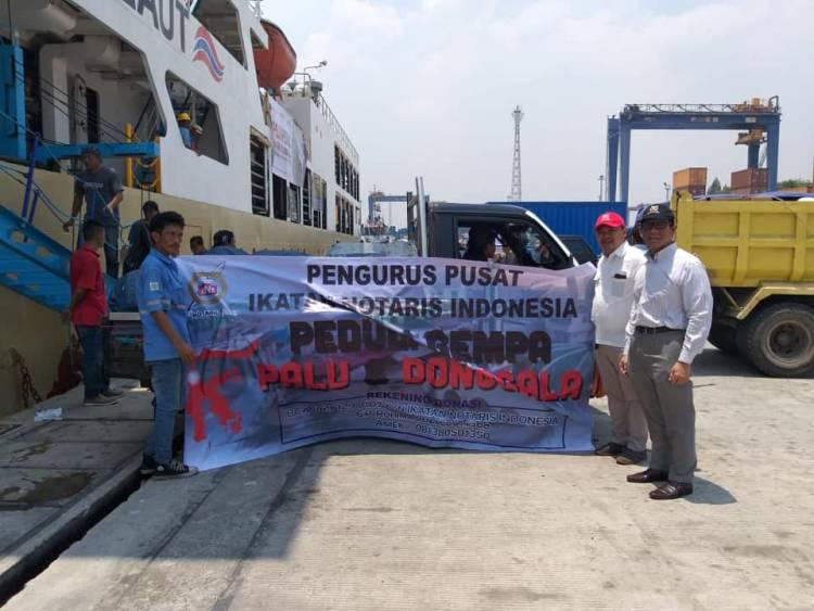 Pengurus Pusat Ikatan Notaris Indonesia Peduli Gempa Palu dan Donggala